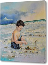 Постер Мальчик и океан