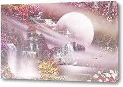 Постер Лунный водопад