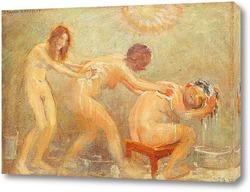 Три женщины, моющие друг друга