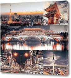 Постер Ночная Япония