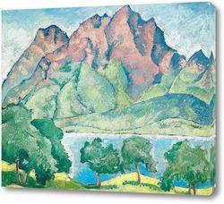 Картина Пейзаж, вид на озеро Люцерн и Пилатус. 1915