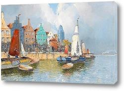 Картина Голландская гавань.