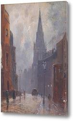 Постер Андреевская церковь, Уэллс-стрит, Лондон