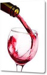 Постер Элегантный винный всплеск