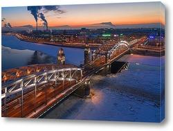 Постер Большеохтинский мост (мост Петра Великого)