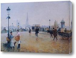 Картина Руан. Мост Корнель Леметр