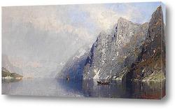 Постер Норвежский фьорд пейзаж