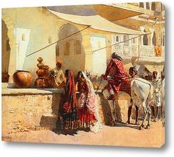 Постер Уличный Рынок, Индия