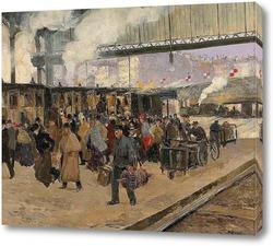 Картина Вокзал Сен-Лазар