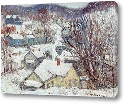 Картина Снежная деревня
