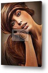 Portrait of a cute brunette