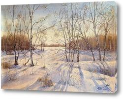 Белорусский снежный лес