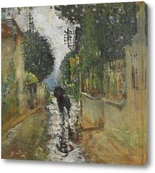 Картина Улица под дождем