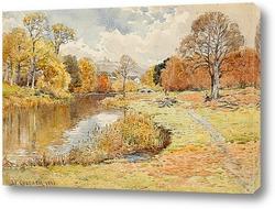 Картина Осенний поток, 1888