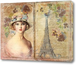 Картина Девушка в Париже