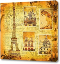 Постер Коллаж Париж