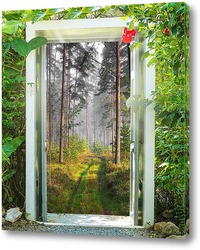 Постер Дорога в лес