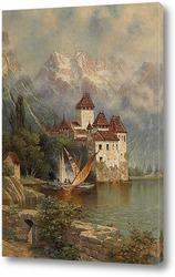 Постер Замок Шильон, Швейцария, 1897