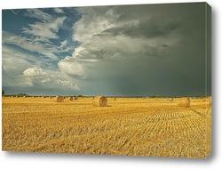 Постер Пшеничное поле перед бурей