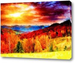 Постер Осенний пейзаж