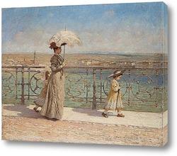 Картина Прогулка на мосту
