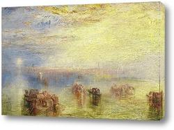 Картина Подход к Венеции, 1844