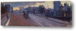 Картина Ходдл стрит, в 10 вечера