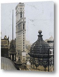 Постер <Таймс билдинг>,Нью-Йорк,1906г.