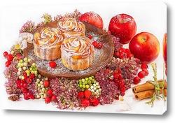 Постер Розочки из яблок