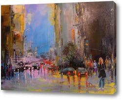 Картина В осеннем городе