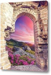 Постер Цветущий пейзаж