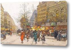 Парижский бульвар под снегом