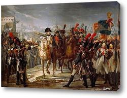 Наполеон с раненной ногой и перевязываюший её хирург Иван