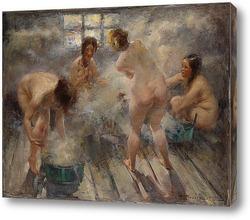 Картина В русской бане