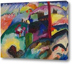 Картина Пейзаж с фабричной трубой
