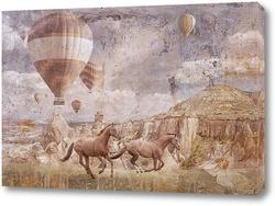 Картина Бегущие лошади