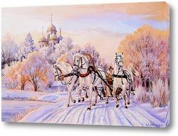 Постер Прямо в снежную зарю