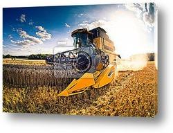 Постер Moisson engin agricole1