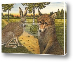 Картина Заяц и лиса