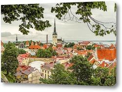 Постер Таллин Старый Город Панорама