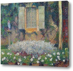 Картина Окно кухни в саду