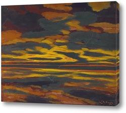 Картина Молния на море