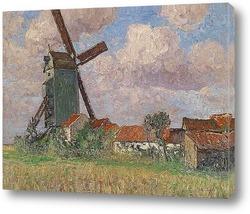 Мельница и деревня в Бельгии