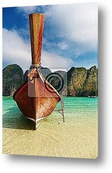 Постер Тропический пляж, Mайя , Таиланд