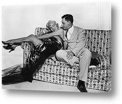 Постер Мерелин Монро и Том Эвел.