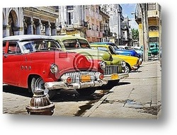Постер Colorful Havana cars