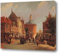 Вид на Зуйдерспай с Дроммедарис в городе Енкхейзен