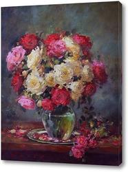 Крупным планом красивая роза