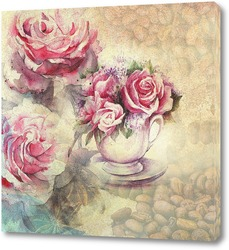 Картина Сашка с розами
