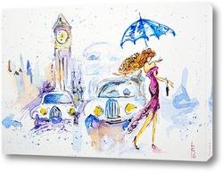 Картина Прогулка под дождем